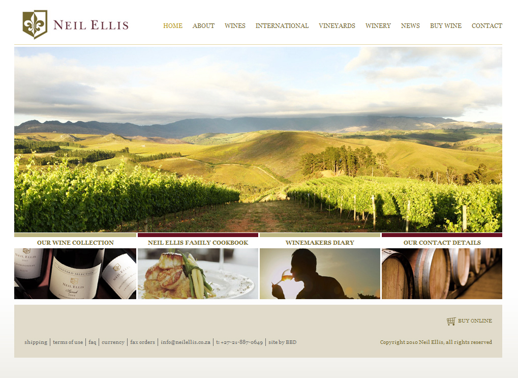 Neil Ellis Wines Website