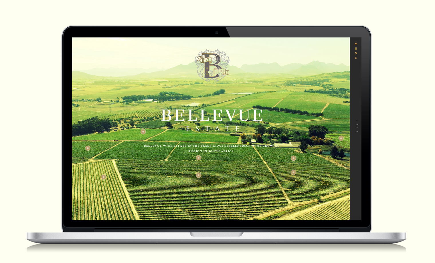 Bellevue wine estate website