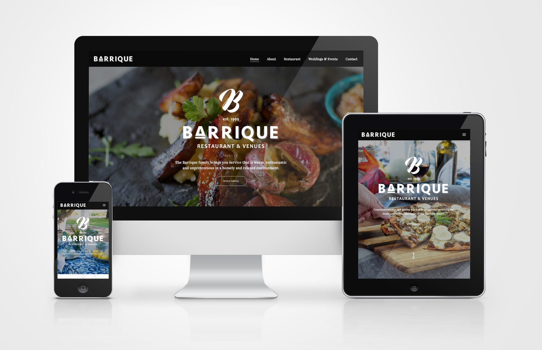 Barrique Restaurant Website